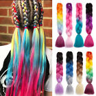 multi colored afro crochet braid hair extensions kanekalon jumbo braiding ombre