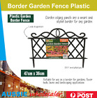 Au New Border Garden Fence Plastic Outdoor Diy Flower Beds Lawns Landscaping