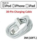Tablet i Pad Cable 30 pin 3FT 6FT 10FT Charger Cord Data Pad 1 2 3 White New