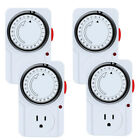 Lot 24-Hour Indoor Plug-In outlet Timer Switch ON/OFF For Home Appliance 2 Mode photo