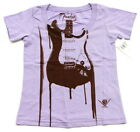 BRAND NEW GIRLS LILAC LAVENDER OR NEON FENDER GUITAR GRAPHIC T SHIRT