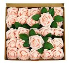 25-50pcs Foam Artificial Rose Heads Flowers Wedding Bride Bouquet Home Decors