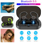 IPX7 Wireless Bluetooth 5.0 Headset Sports Earphone Ear-Hook Handsfree Headphone