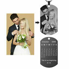 Personalized Gift Picture Word Dog Tag Pendant Necklace For Couple Friend Family