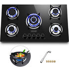 """Tempered Glass 2-5 Burners Built-In Stove Gas Cooktop 12""""~36"""" Black For Kitchen photo"""