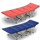 Portable Single Size Folding Bed Rollaway Cot Guest Sleeping with Mattress & Bag