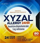 Xyzal Allergy 24 Hour, Allergy Tablet, 80 Count, All Day and Night Relief from A $16.99 USD on eBay
