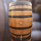 200L Wooden Water Butt With Tap Recycled Solid Oak Whisky Barrel  Vintage