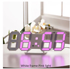 Wall Clock 3D LED Modern Design Digital Table Clock Alarm Nightlight Saat reloj