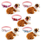 Soft Real Leather Adjustable Pet Puppy Dog Collars for Lead Safety S L XL