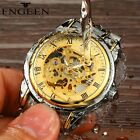 Men's Watches Stainless steel Skeleton Automatic Mechanical Sport Wrist Watch image