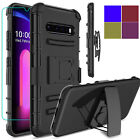 For LG V60 ThinQ 5G Case Heavy Duty Stand Belt Clip Cover /9H Screen Protector