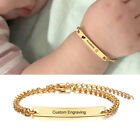 Personalized Kid Child Baby ID Name Bar Bracelet Engraving Newborn Birthday Gift