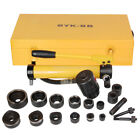 10T Hydraulic Punch Driver Press with 6 PCS Tool Kit Yellow 6 Dies & Punches