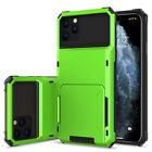 Card Slot Hybrid Hard PC Phone Case Slim Bumper Cover For iPhone 7 8 11 Pro Max