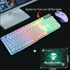 T6 Backlight USB Ergonomic Gaming Sensitive Keyboard + Mouse + Mouse Pad Set F1