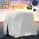 2 Person Passenger Golf Cart Cover Waterproof 210D Oxford For EZ Go Club Yamaha