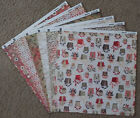 Basic Grey 12x12 Scrapbook Paper Wassail Christmas Noel Sleigh Ride Merry Happy