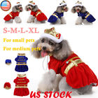Pet Dog Halloween Xmas King Dress Hat Cosplay Costume Puppy Funny Apparel Outfit