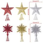 Christmas Tree Topper Ornaments Star Snowflake Party Home Xmas Decoration Props