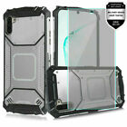 For Samsung Galaxy Note 10,10 Plus Jacket Design Ultra Edge Case +Tempered Glass