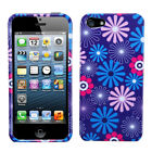 Two Piece Hard Snap on Design Protective Cover Case for iPhone 5