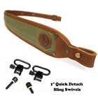 Leather Rifle Sling, Canvas Shotgun Strap, Padding Gun Shoulder Straps HuntingSlings & Swivels - 73977