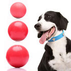 New Pet Dog Cat Play Red Indestructible Solid Fetch Ball Rubber Play Chewing Toy
