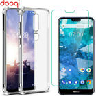 For Nokia 7.1/6.1/4.2/2.2/3.2 Shockproof Crystal Clear Case Cover+Tempered Glass