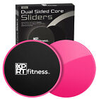 2 PCS Dual Gliding Discs Core Sliders Exercise Abs Strength - Rug and Wood Floor image