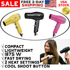 Revlon Compact Hair Dryer For Travel Professional Turbo Blow 2 Speed Heat 1875W