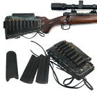 USA Leather Rifle Cheek Rest Riser Buttstock Ammo Holder Fit any bullet caliber for sale  Shipping to South Africa