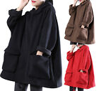 YESNO WZF Women Casual Fleece Pullover Hoodies Plus Size Active Jacket Pockets