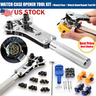 US Watch Repair Tool Kit Watchmaker Back Case Cover Opener Screw Wrench Remover image