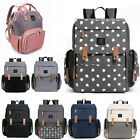 Kyпить Mommy Baby Diaper Bag Large Capacity Nappy Backpack Waterproof + STROLLER HOOKS на еВаy.соm