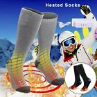USB Chargable Battery Electric Heated Socks Boot Feet Warmer Long Winter Outdoor