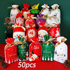 Kyпить 50PCS Christmas Candy Bags Storage Sacks Reusable Drawstring Wrap Present Gift на еВаy.соm