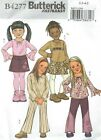 Butterick 4277 Toddlers' Top, Skirt, Pants and Belt 2, 3, 4, 5 Sewing Pattern