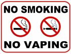 No Smoking No Vaping Vinyl Decal / Sign -- Multiple Sizes To Choose From #1