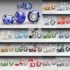 14mm Murano Glass Beads Lampwork Fit European Charms Bracelet Free Shipping image