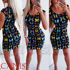Womens Dresses Evening Party Cocktail Dress Butterfly Bodycon Summer Sundress US