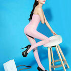 Bodystocking Shiny Pantyhose Lady Lingerie Tights Sheer Crotchless Glossy New