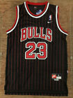 BRAND NEW Michael Jordan 23 Chicago Bulls Pinstripe Black Basketball Jersey MENSBasketball-NBA - 24442