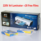 220V Home/office A4 Laminating Machine Hot&Cold +20 Laminator Film Pouches