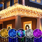 Warm White/White/Blue/Multicolor Lights LED Christmas Curtain Icicle String Lamp