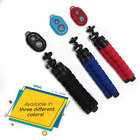 Flexible Sponge Octopus Mount Mini Tripod Bluetooth Remote Shutter Holder iPhone
