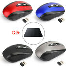 2.4GHz Cordless Wireless Optical Mouse Mice For Laptop PC Computer  4 colors US