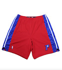 New Adidas NBA Authentics Detroit Pistons Team Issued Pro Cut Shorts Red Blue