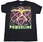 DISNEY POWERLINE MOVIE T-SHIRT BLACK RETRO MENS DISNEYLAND RARE TEE NEW image