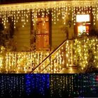 Garland Christmas LED Curtain Icicle String Fairy Light 5M 96 Leds Droop Decor